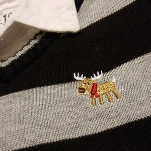 Christmas Reindeer Vest w/long sleeve button up